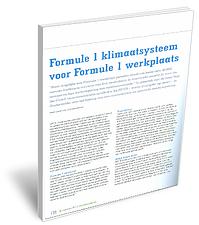 Formule1 klimaatsysteem voor Formule1 werkplaats